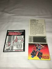 TRANSFORMERS G2 LASER OPTIMUS PRIME - Instructions and pop up card 1995 Near mnt