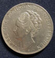 2 1/2 Gulden 1938 Wilhelmina Niederlande  .720 Silber 25 g KM#165 Tief Haar RARE