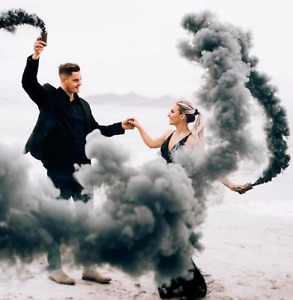 Black smoke for photo shoot, Coloured smoke, smoke bomb, Wedding, Birthday