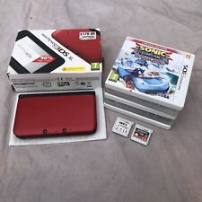 Nintendo 3DS XL Red & Black Handheld Console Boxed With Charger And 7 Games.