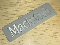 1984 Macintosh 128K M0001 Original Rear Aluminum Case EMBLEM for First Mac NICE!