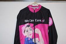 V Gear Breast Cancer RIde We Can Cure It Zip Windbreaker Women XL Multi Pink Hip