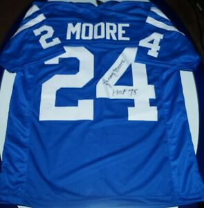LENNY MOORE SIGNED BALTIMORE COLTS CUSTOM JERSEY