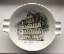 New ListingFrankfurt on Main Germany Souvenir Ashtray Goethehaus Made by Kaiser Porcelain