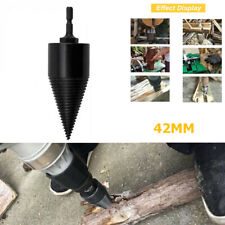 42MM Hex Shank Drill Bit ChopWood Splitter Screw Reamer Punch for Electric Drill