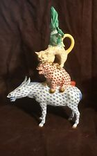 "Herend Porcelain Musicians of Bremen 9"" Figurine"