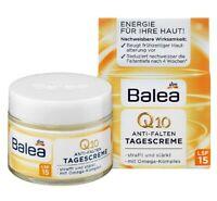Balea Q10 Anti-wrinkle Day Face Cream SPF 15 Tightens & Strengthens Skin 50 ml
