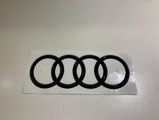 """Original Audi Emblem """"Ringe"""" schwarz glänzend für hinten Heckklappe"""