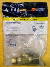 DAHL Brass Mini-Ball Valve 5/8 OD Comp x 3/8 OD Comp