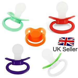 Coloured Adult Pacifier Box Teat - Dummy Soother for Adult Fetish Baby