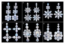 Natural Rainbow Moonstone Blue Shines Loose Cabochon Gemstones Wholesale Lot