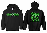 MOTO BABY TODDLER HOODIE SWEAT SHIRT CUSTOM NUMBER PLATE MX MOTOCROSS YZ KTM KX