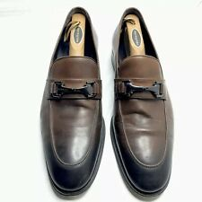Bruno Magli Horse Bit Loafers Shoes Brown Men's 11