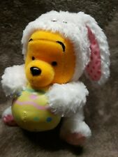Disney Winnie the Pooh white EASTER BUNNY egg bean bag plush - JAPAN NEW beanie