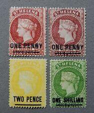 4-1882-1883 St Helena Postage #25, #29, #30, #31, Unused Stamp (s) H G NG / nr