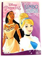 Disney Princess Jumbo Coloring and Activity Book for Kids Cinderella Jasmine