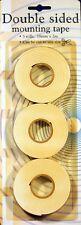 3 Rollen 2 m X 18 mm Doppelklebeband / Dichtungsklebeband
