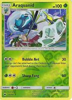 POKEMON SUN & MOON BURNING SHADOWS CARD: ARAQUANID - 15/147 - REVERSE HOLO