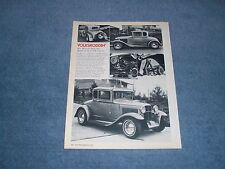 "Dee Wescott Model A Ford Coupe Vintage Article ""Volksroddin' "" VW Powered"