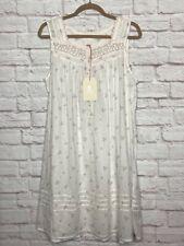 Medium/Large/XL New Rachel Ashwell Shabby Chic White Floral Cotton Nightgown