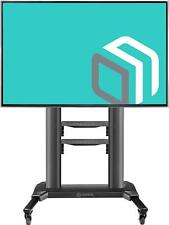 "ONKRON Universal Mobile TV Stand with 2 Shelves Cart on Wheels for 40"" – 75 Inch"