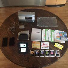 Nintendo 3DS Cosmo Black Release Console Cib In Box With AR Cards L@@K