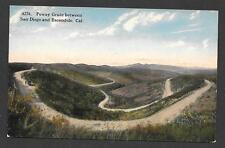 RARE 7-19-1920 POWAY GRADE between SAN DIEGO and ESCONDIDA CALIFORNIA POSTCARD