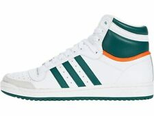 adidas Top Ten Hi Men's Sneakers Leather Basketball Shoes White Red Green