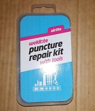"""Weldtite """"airtite"""" Bike Puncture Repair Kit With Bicycle Tyre Levers"""