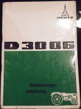 DEUTZ remorqueur D 3006 manuel d'utilisation