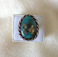 Pacific Crest Silver Turquoise with Pyrite 925 Sterling Silver Ring Size 7.75