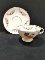 Vintage Seltmann Weiden Bavaria Germany Tea Cup and Saucer Set Floral