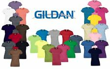 Gildan Ladies Ladies' Soft Style Plain Crew Neck T-Shirts 100% Cotton