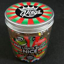 Compound Kings XMAS Lights Glitzy Slime 15 oz Glitzi Glitter Sparkle Multicolor