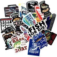 50 Angel Aufkleber Fishing Angelrute Sticker Fisch Hobby Fischen Angeln