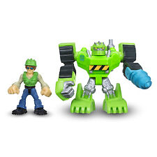 Playskool Heroes Transformers Rescue Bots BOULDER Construction-Bot GRAHAM BURNS
