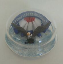 Yankee Candle RARE Sand Filled Patriotic Glass Lid Proud American Bald Eagle