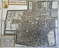 's Graven Hage The Hague Holland Netherlands Low Countries 1678 city plan