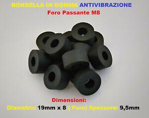 Rondella in Gomma Boccola  Antivibrazione supporto distanziale 19x9,5mm foro M8