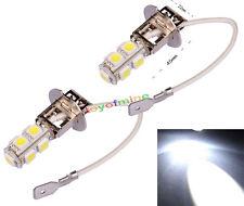 2x H3 9 de luz de lámpara de xenón Jefe 12V LED SMD del coche del bulbo DC