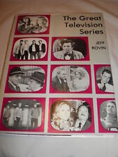 Awesome 1977 book - The Great Television Series by Jeff Rovin *ALL THE FAVORITES