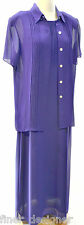 Studio 1 womens suit 2 pc maxi dress Shirt jacket crepe chiffon Dress SZ 10 NEW