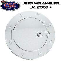 Chrome Fuel Door Cover with LOCK for Jeep Wrangler 2007-18 11425.04 Rugged Ridge