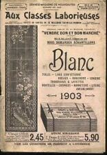 CATALOGUE AUX CLASSES LABORIEUSES BLANC 1903
