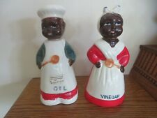 Mammy and Pappy Oil& Vinegar shakers - Set of Two