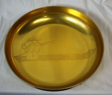 Vtg Neocraft Aluminum Big Bowl Dish Tray Everlast Marc Antony Cleopatra Gold