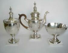 New ListingFine Early American Coin Silver Tea Set Jacob Wolf Philadelphia 18Th Cent Signed