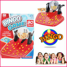 KIDS CHILDRENS BINGO LOTTO TRADITIONAL FAMILY GAME TOY PLAY SET 90 BALLS