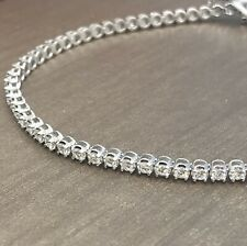 Solid 18ct White Gold Diamond Tennis Bracelet 2ct 9.5gram 7.5""