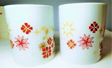 Starbucks Coffee /Chocolate  Mug /Cup Red Gold 12 oz  Two Available